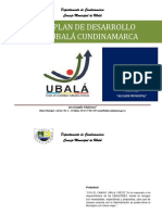 PLAN DE DESARROLLO UBALA