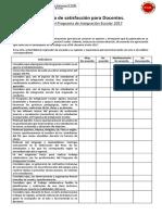 Encuesta de Satisfacción Para Docentes (1)Programa de Integración Escolar