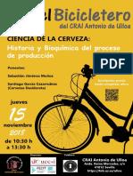 """En el Bicicletero del CRAI... """"Ciencia de la cerveza"""