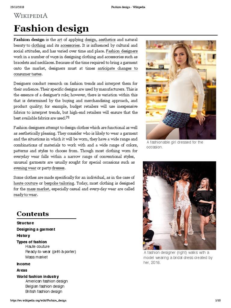 Fashion Design Wikipedia Fashion Design Fashion