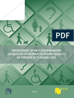ENFORCEMENT OF ANTI-DISCRIMINATION LEGISLATION OF GEORGIA TO ENSURE EQUALITY OF PERSONS WITH DISABILITIES
