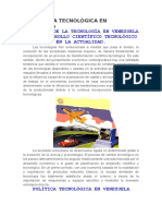 LA POLÍTICA TECNOLÓGICA EN VENEZUELA.docx
