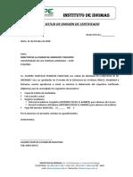 Emisión Certificado Diploma Ingles