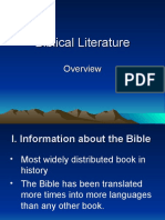 Biblical Literature Overview