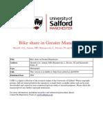 2018 Sherriff Et Al Bike Share in Greater Manchester