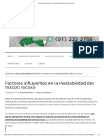 Factores Influyentes en La Inestabilidad Del Macizo Rocoso GEOMECA