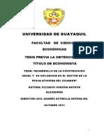 Desarrollo de la construcción naval y su influencia en el sector de la pesca atunera del Ecuador