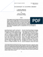 The Rhetoric and Rationality of Accounting Research