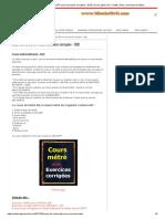 exercice de métré corrigé pdf