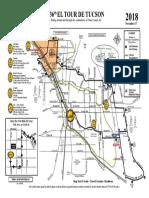 2018 El Tour de Tucson route map