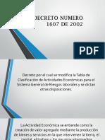 Decreto 1607 de 2002 Exposición
