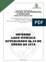 LAGO TITICACA - Informe Semanal (Actualizado 26-01-18)