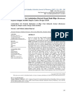 Optimasi Formula Gel Antioksidan Ekstrak Etanol Bu