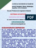 2. Ecosistemas Acuaticos. OCEANOGRAFIA. Aspectos Generales