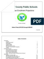 10 year enrollment projects for Fauquier County Public Schools