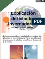 Explicacion de Efecto Invernadero