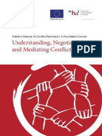 Trainer's Manual on Conflict Resolution a Foundation Course – Understanding Negotiating and Mediating Conflict