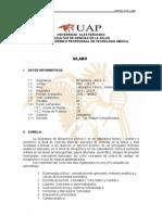 Silabo de Bioquimica II 2009 - Corregido