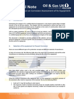Technical Note Guidance on Corrosion Assessment of Ex Equipment