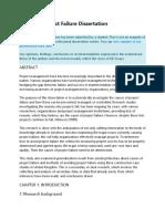 Avoiding Project Failure Dissertation