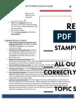 2018-19 Welfare Revision Guide