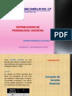 Distribuciones de Probabilidad Discretas EXPOSICION UCP 2018