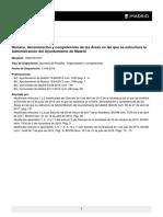 Número y Denominación de las Áreas de Gobierno del Ayuntamiento de Madrid