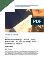 Analyse LOTR Und HP