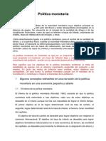 EXPONER PLITICA MONETARIA