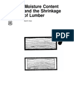 Moisture Content and the Shrinkage of Lumber