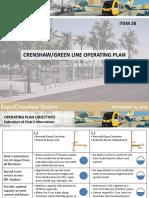 Crenshaw/LAX Line and Green Line Operating Plan Presentation
