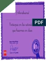 Diploma de felicitación