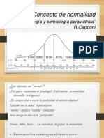 Concepto de Normalidad. Psicopatología y Semilogía Psiquiátrica. R. Capponi