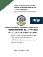 Determinacion de Ph y Acidez Procesos 3