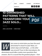 10 Diminished Patterns for Jazz Improvisation | Jazzadvice