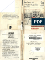São Paulo Na Primeira República - Silvia Moreira