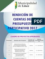 Rendicion de Cuentas Pp2017 LINCE