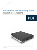 Force Plate and Mounting Plate Installation Instructions