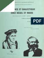 Michel Vadée (org.) - Science et Dialectique chez Hegel et Marx (1980, Editions du C.N.R.S.).pdf