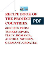 - Recipe Book of the Project Countires