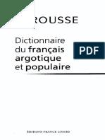 LAROUSSE Dictionnaire du francais argotique et populaire