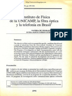 BRISOLLA; PINTO_El Instituto de Física de La Unicamp, La Fibra Óptica y La Telefonia en Brasil