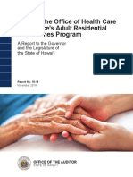 Audit of the Office of Health Care Assurance's Adult Residential Care Homes Program