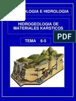 HIDROGEOLOGIA MATERIALES KARSTICOS