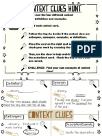 3rd Context Clues Activity