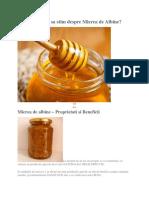 Miere de albine si proprietati
