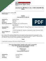 (PARAFINA) - International Case Law - Toonen v. Australia, Communication No. 488-1992, U.N. Doc CCPR-C-50-D-488-1992 (1994). Copy