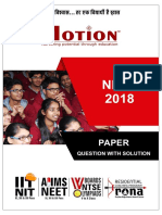 NEET 2018 Paper With Solution (Code RR)