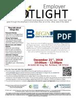 Employer Spotlights December 2018