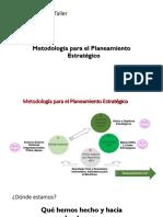 PPT Planeamiento Estratégico. Taller NOV 2018